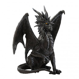 BLACK CHECKMATE DRAGON SCULPTURE