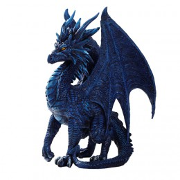 BLUE CHECKMATE DRAGON SCULPTURE
